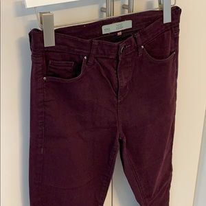 Topshop - burgundy Leigh jeans